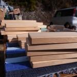 材木屋さんのまな板
